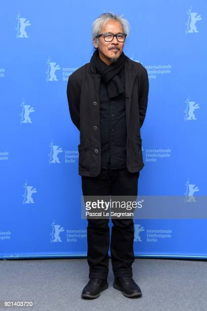 Lav Diaz poses at the 'Season of the Devil' photo call during the 68th Berlinale International Film Festival Berlin at Grand Hyatt Hotel on February...
