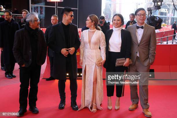 Lav Diaz Shaina Magdayao Piolo Pascual Bianca Balbuena and Bradley Liew attend the 'Season of the Devil' premiere during the 68th Berlinale...