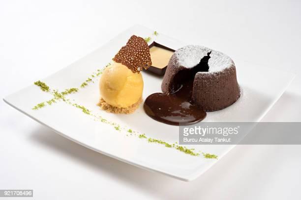 Lava Cake with Ice Cream