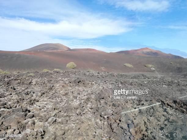 Lava fields in Timanfaya