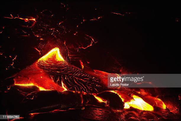 Lava flow - 1200 Celsius from 4 meters...