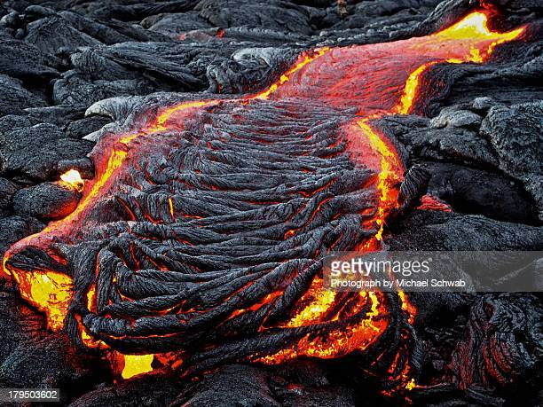 lava flow - kalapana stock pictures, royalty-free photos & images