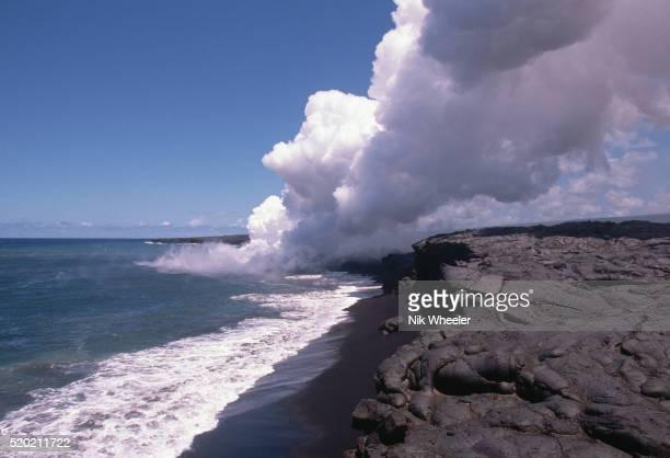 Lava Flowing into Ocean