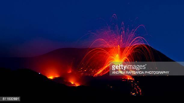 Lava fountains on Mt. Etna