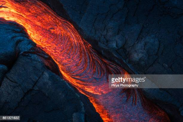 lava in hawaii - volcanic rock stock pictures, royalty-free photos & images