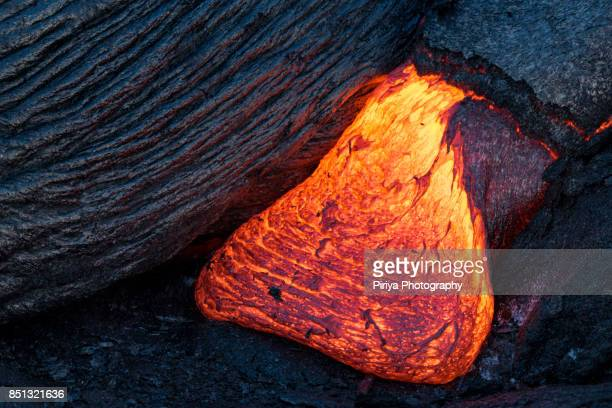 lava in hawaii - kalapana stock pictures, royalty-free photos & images