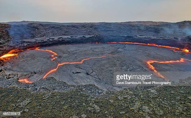 lava lake in Erta Ale volcano, Danakil, Ethiopia