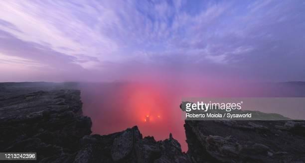 lava lake inside erta ale volcano, danakil depression, afar, ethiopia, africa - danakil depression stock pictures, royalty-free photos & images