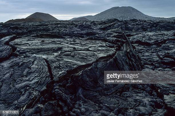 lava pahoehoe. santiago island, galapagos islands - lava plain stock pictures, royalty-free photos & images
