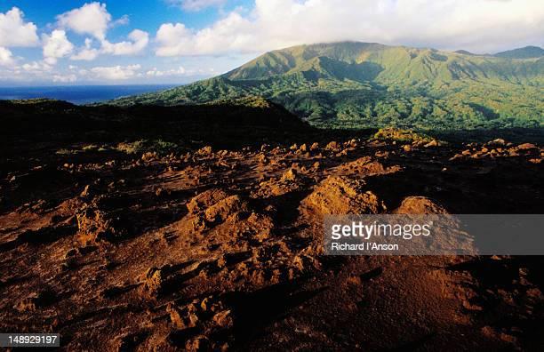 Lava plain on upper slopes of Yasur volcano.