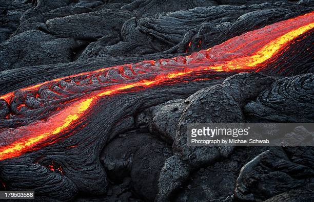 lava ripples, hawaii - lava stock pictures, royalty-free photos & images