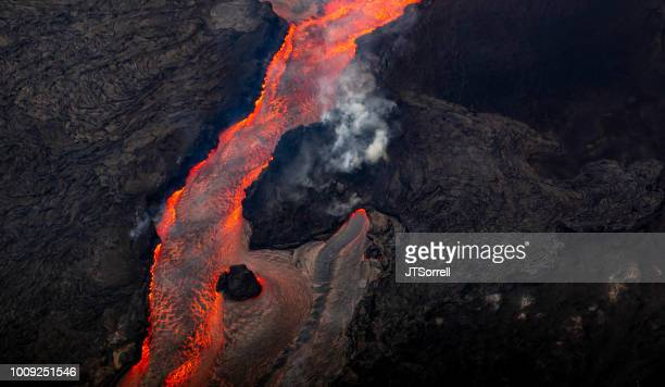 lava river - volcano stock pictures, royalty-free photos & images