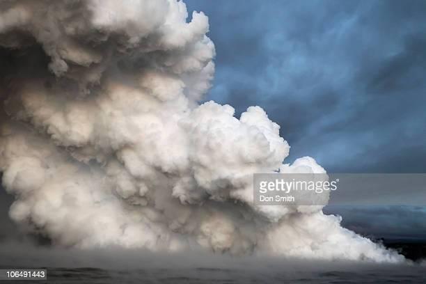 lava steam plume - don smith stockfoto's en -beelden