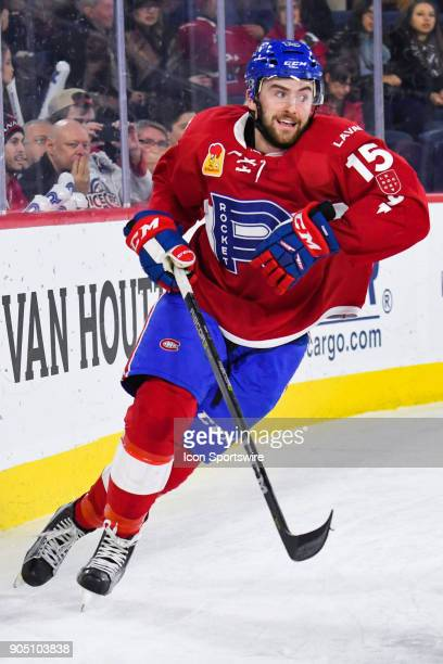 Laval Rocket center Thomas Ebbing skates while looking at his left during the Utica Comets versus the Laval Rocket game on January 10 at Place Bell...