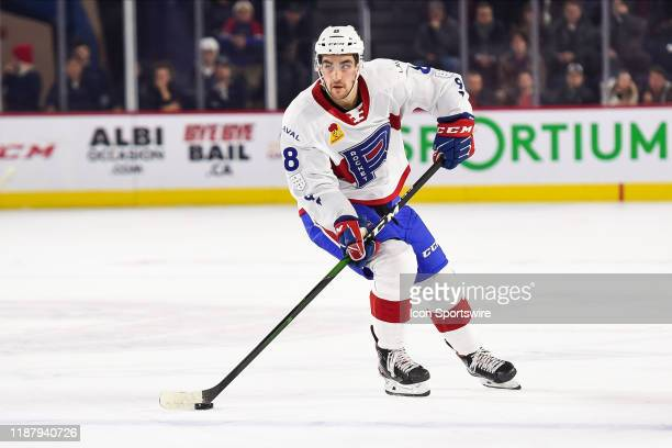Laval Rocket defenceman Josh Brook skates in control of the puck during the Cleveland Monsters versus the Laval Rocket game on December 10 at Place...