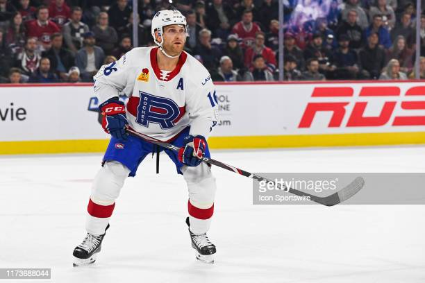 Laval Rocket defenceman Karl Alzner tracks the play during the Cleveland Monsters versus the Laval Rocket game on October 04 at Place Bell in Laval,...