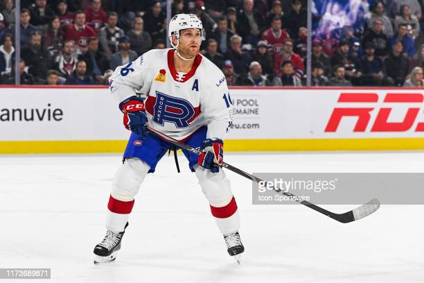 Laval Rocket defenceman Karl Alzner tracks the play during the Cleveland Monsters versus the Laval Rocket game on October 04 at Place Bell in Laval QC