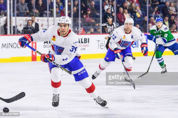 Laval Rocket left wing Jordan Boucher skates during the second period of the AHL game between the Utica Comets and the Laval Rocket on November 25 at...