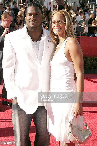 LaVar Arrington and Trishia Johnson during 2004 ESPY Awards Arrivals at Kodak Theatre in Hollywood California United States