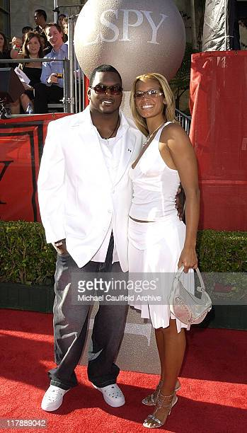 LaVar Arrington and Trishia Johnson during 2004 ESPY Awards Red Carpet at Kodak Theatre in Hollywood California United States