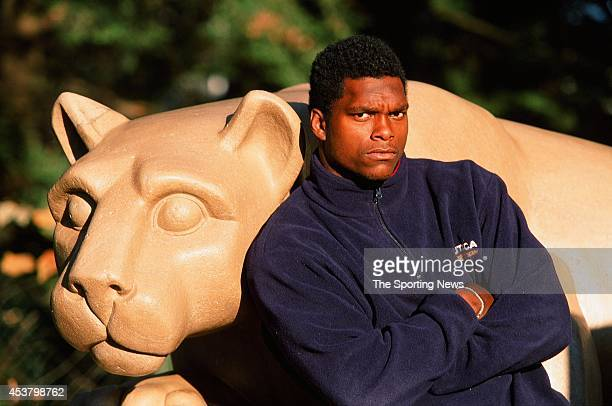 LaVar Arrington of the Penn State Nittany Lions poses for a photo on December 11 1998