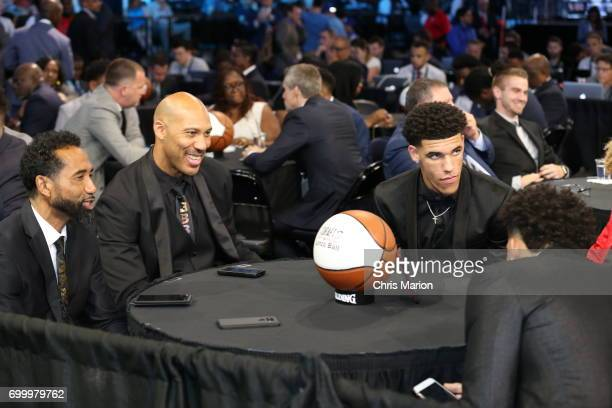 LaVar Ball and Lonzo Ball prior to the 2017 NBA Draft on June 22 2017 at Barclays Center in Brooklyn New York NOTE TO USER User expressly...