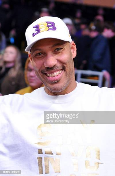 LaVar Ball attends a basketball game between the Los Angeles Lakers and the Sacramento Kings at Staples Center on December 30, 2018 in Los Angeles,...