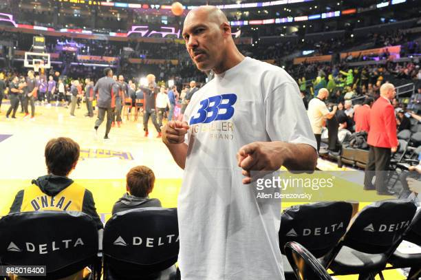 LaVar Ball attends a basketball game between the Los Angeles Lakers and the Houston Rockets at Staples Center on December 3, 2017 in Los Angeles,...