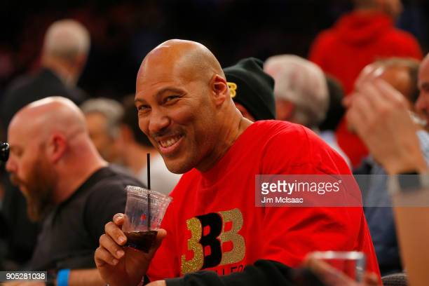 LaVar Ball attends a game between the New York Knicks and the Los Angeles Lakers at Madison Square Garden on December 12 2017 in New York City The...