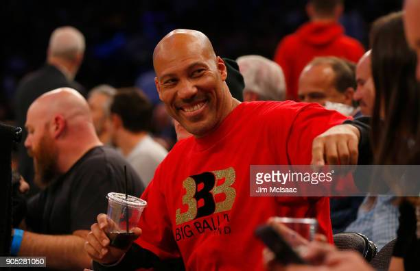 LaVar Ball attends a game between the New York Knicks and the Los Angeles Lakers at Madison Square Garden on December 12, 2017 in New York City. The...