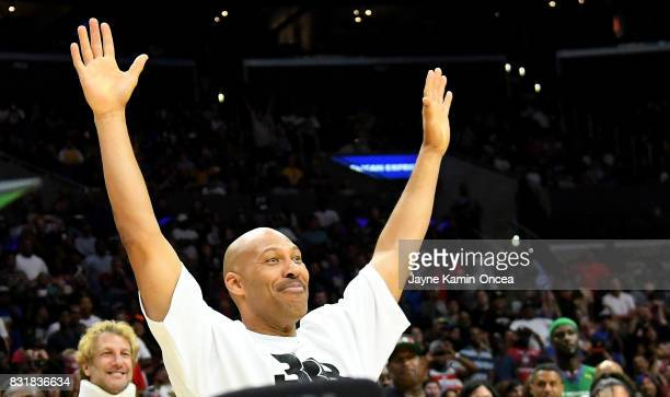 LaVar Ball attends the BIG3 at Staples Center on August 13 2017 in Los Angeles California