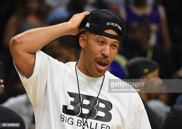 LaVar Ball attends the BIG3 at Staples Center on August 13, 2017 in Los Angeles, California.