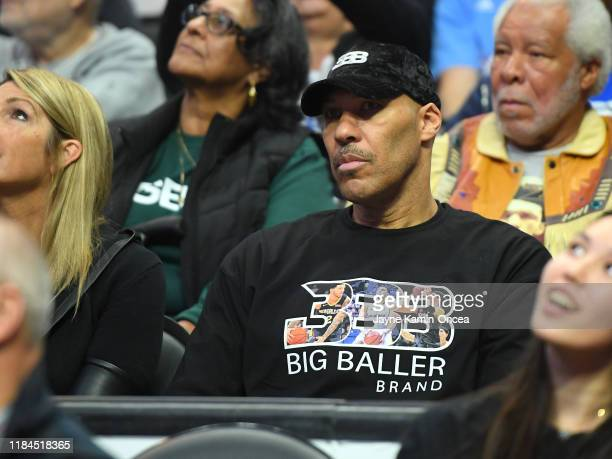 LaVar Ball attends the game between the Los Angeles Clippers and the New Orleans Pelicans at Staples Center on November 24, 2019 in Los Angeles,...