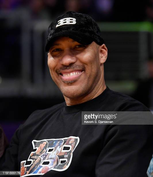 LaVar Ball attends the New Orleans Pelicans and Los Angeles Lakers basketball game at Staples Center on January 3, 2020 in Los Angeles, California.