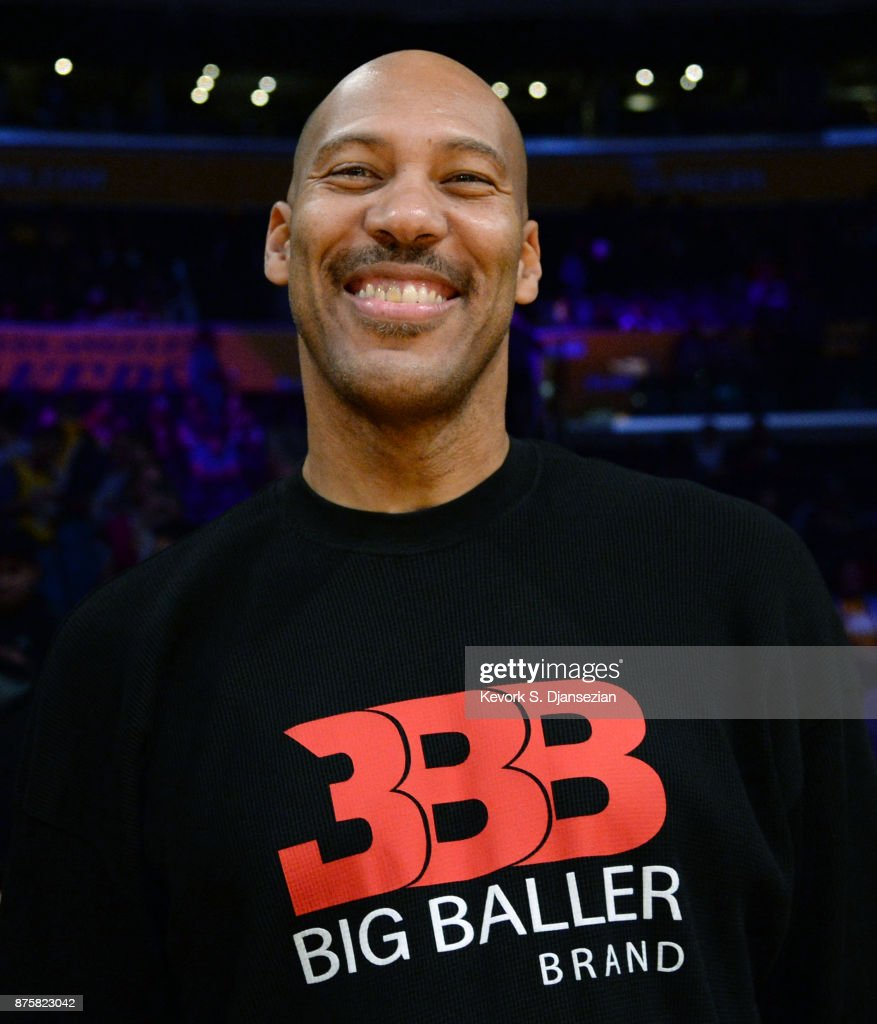 LaVar Ball, father of Lonzo Ball #2 of the Los Angeles Lakers, attend a basketball game between Phoenix Suns and Los Angeles Lakers at Staples Center November 17, 2017, in Los Angeles, California.