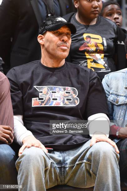 LaVar Ball looks on during the game between the New Orleans Pelicans and the Los Angeles Lakers on January 3, 2020 at STAPLES Center in Los Angeles,...