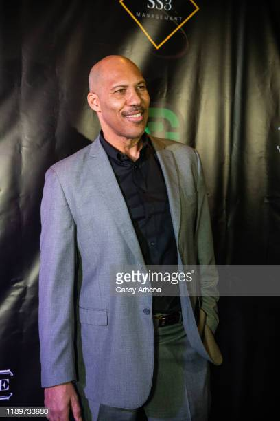 LaVar Ball poses on the blue carpet at LiAngelo Ball's 21st Birthday Party at Argyle club on November 23, 2019 in Hollywood, California.