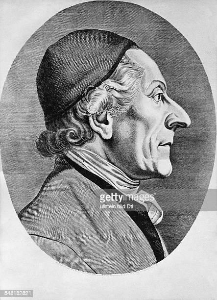 Lavater Johann Kaspar 15111741 02011801 Schriftsteller Religionsphilosoph CH gezeichnet von Joh H Lips in Zürich 1786 und gestochen von Ad Ludw...