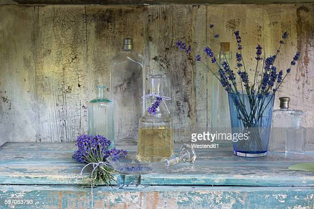 Lavender oil in bottle
