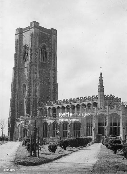 Lavenham church in Suffolk the tower of which is a fine example of late fifteenth century perpendicular architecture