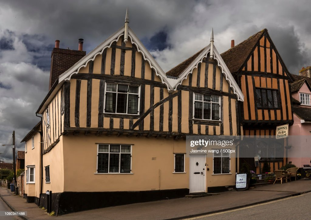 Lavenham street : Stock Photo