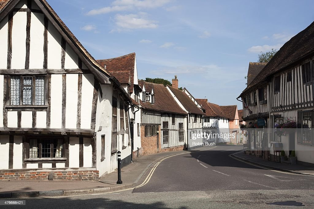 Lavenham Village, Suffolk : Stock Photo