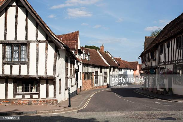 lavenham village, suffolk - suffolk england stock photos and pictures