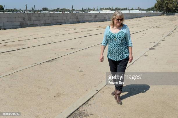 LaVerne Blanchard walks through the Fresno County Cemetery also known as Potter's Field where mainly indigent and unknown people have been buried in...