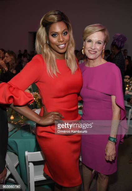Laverne Cox and Cecile Richards attend the Planned Parenthood's 2018 Spring Into Action Gala at Spring Studios on May 1 2018 in New York City