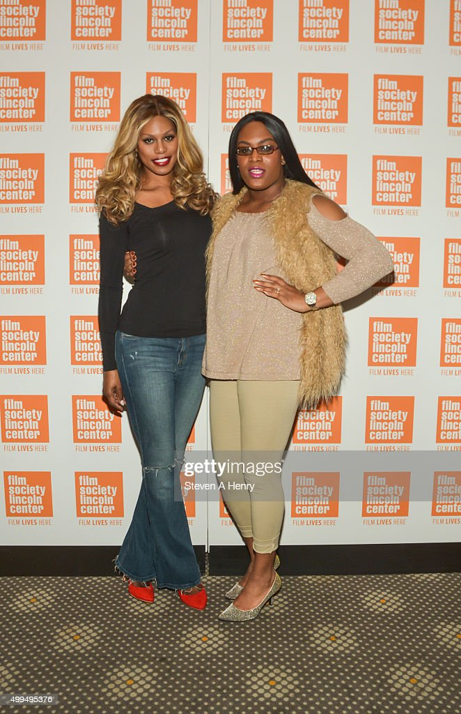 Laverne Cox and Mya Taylor attend the 'Tangerine' New York screening hosted by Laverne Cox at the Elinor Bunin Munroe Film Center on December 1, 2015 in New York City.