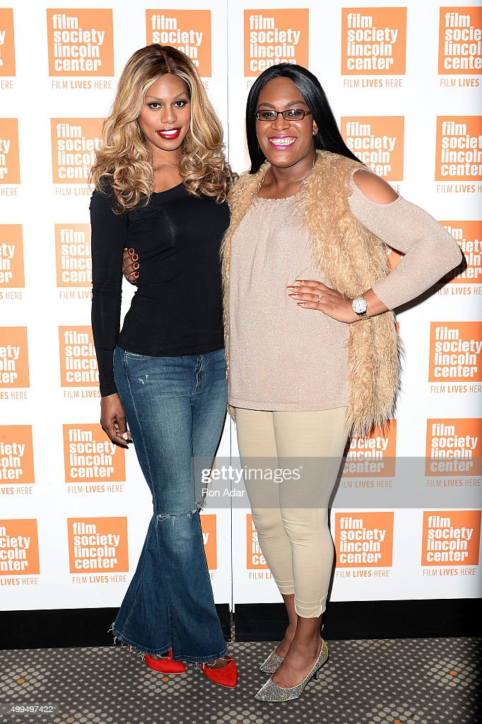 Laverne Cox (L) and Mya Taylor attend the 'Tangerine' New York Screening Hosted By Laverne Cox at Elinor Bunin Munroe Film Center on December 1, 2015 in New York City.