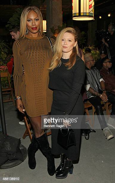 Laverne Cox and Natasha Lyonne attend the Opening Ceremony Fashion Show during Spring 2016 New York Fashion Weekon September 13 2015 in New York City