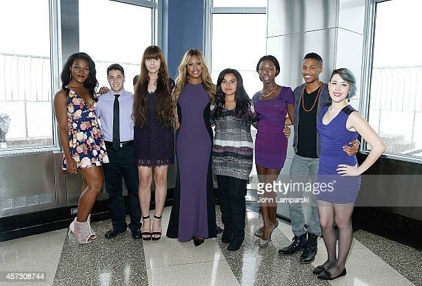 Laverne Cox and youth from L'Lerret Ailith Avery Gray Danielle Carter Jess Liberatore Kye Allums Shane Henise and Zoey attend 'Laverne Cox Presents...