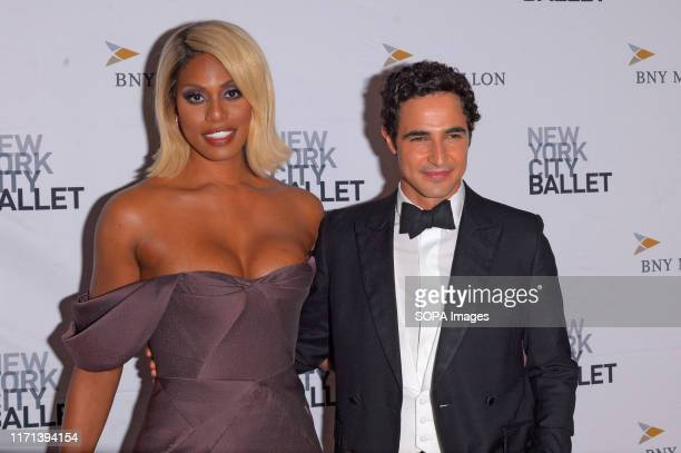 Laverne Cox and Zac Posen attend the 8th Annual New York City Ballet Fall Fashion Gala at David H Koch Theater Lincoln Center